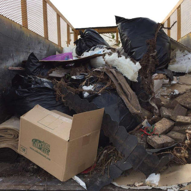 Pile of Junk Removed from New Orleans Home
