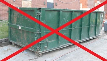 roll off container rental, 30-yard dumpster rental ,ugly green dumpster.jpg