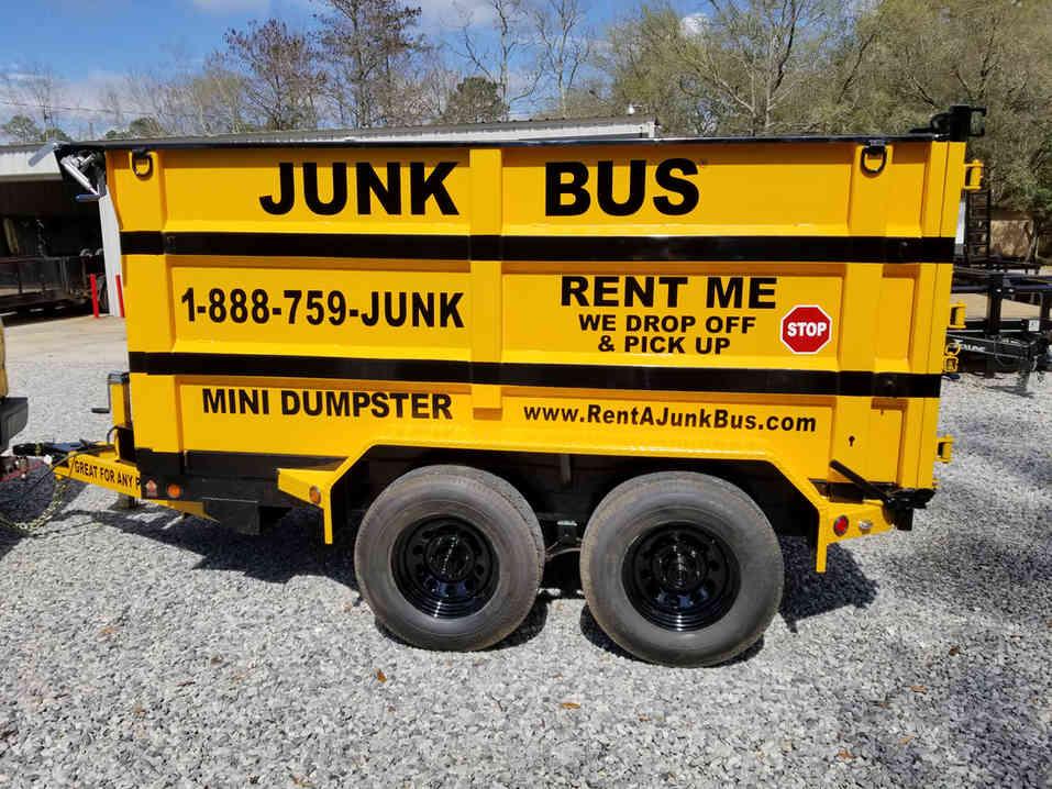 7-yard Dumpster Rental on Wheels