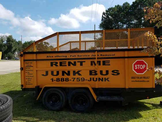 21 yard Dumpster Rental on Wheels