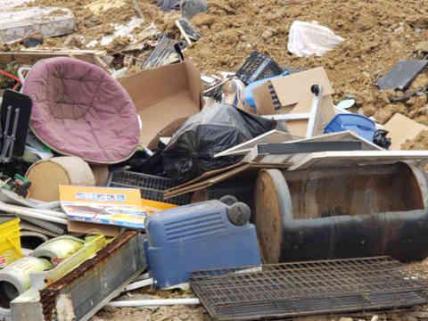 Pile full of junk