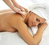 gemale client enjoying another great massage from Calgary therapeutic massage and wellness