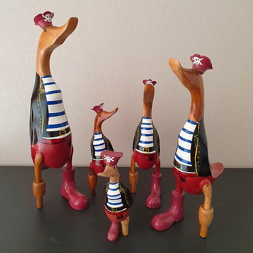 THOMAS - Canard - Pirate - Déco - Bois - Artisanal