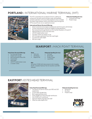 A Closer Look at the Maine's Major Ports