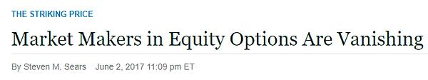 4. Market Makers Equity Options Vanishin