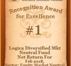 Logica Diversified Market Neutral Fund has ranked # 1 in the Equity Market Neutral category for Febr