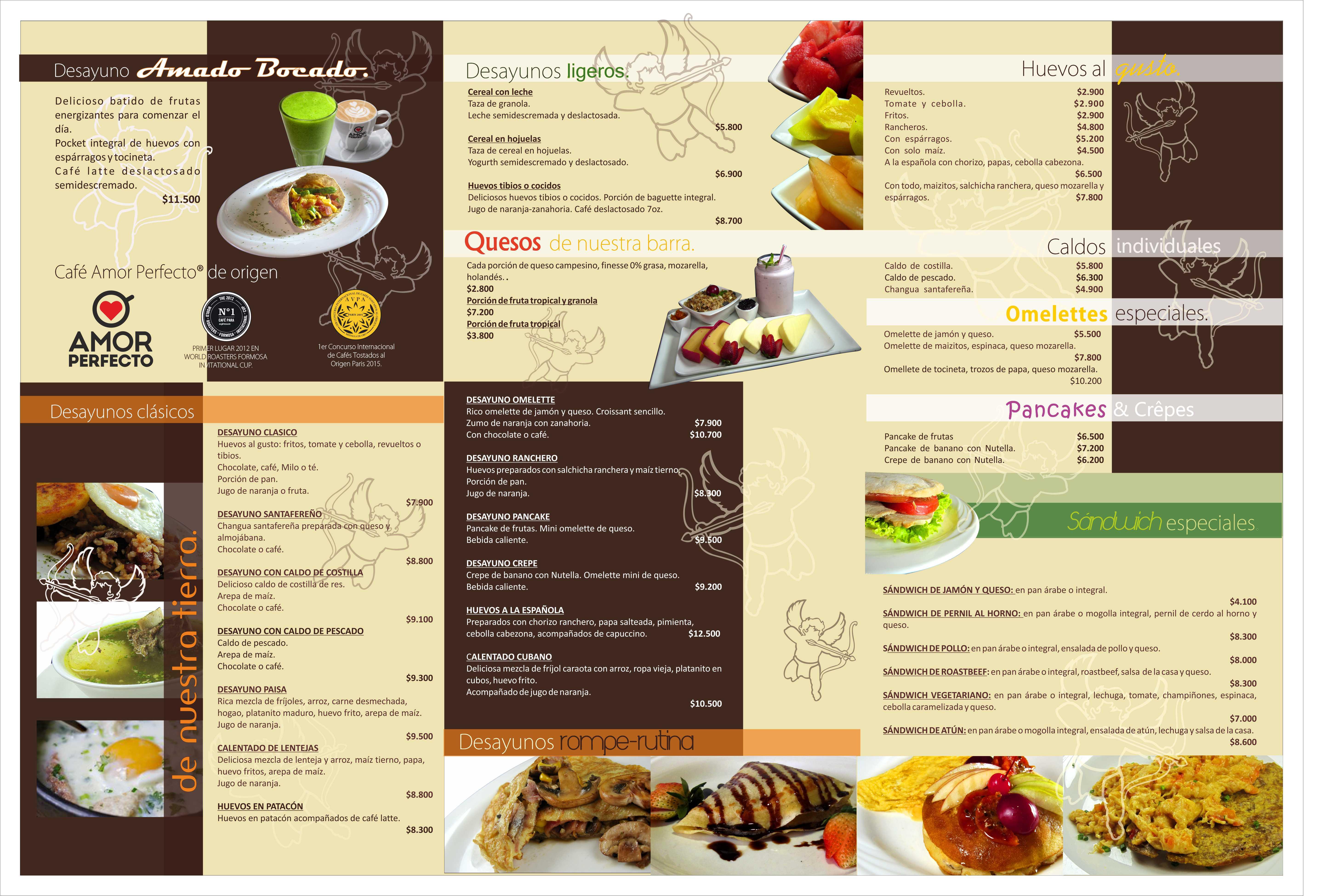 carta nueva desayunos restaurante B