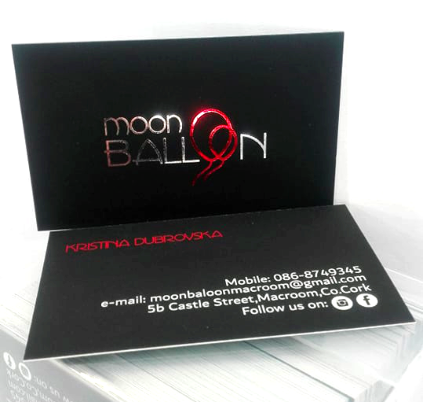 Moon Balloon logo card