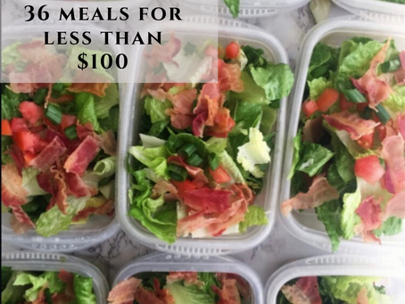 [guest post]  36 Meals for Less Than $100