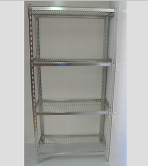 Stainless Steel Angle + Wire Shelves