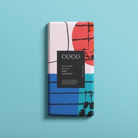 COCO Isle of Skye Sea Salt Dark Chocolate 80g
