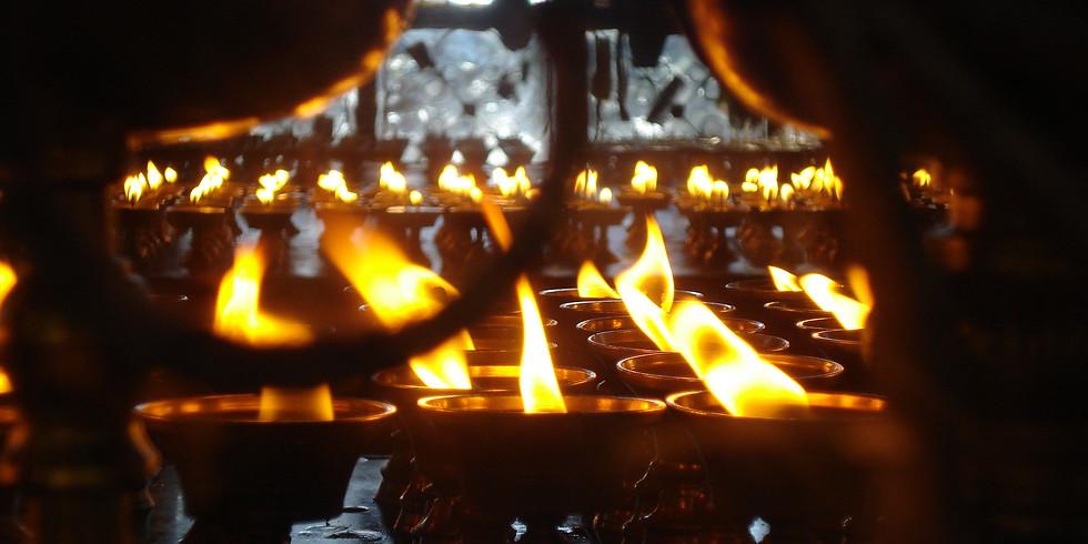 Candle light Yin Yoga