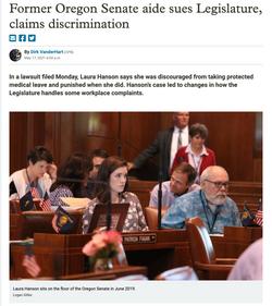 Former Oregon Senate aide sues Legislature, claims discrimination
