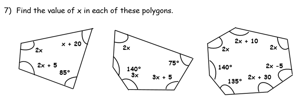 Polygon Interior Angle Sum Theorem Worksheet Pdf Www