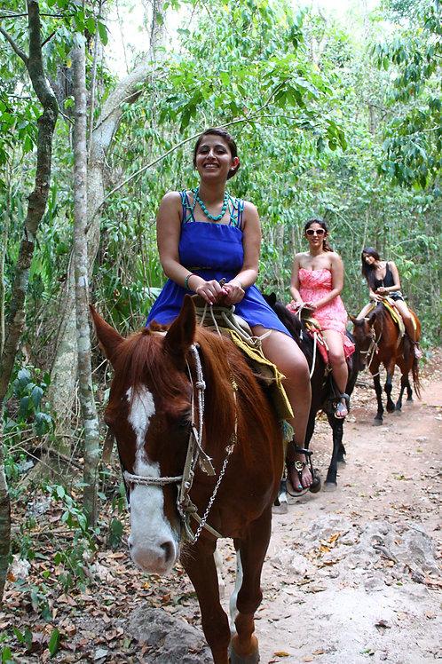 Horseback riding & zip-line jungle adventure