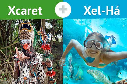 COMBO 7 Xel Ha, Xcaret Tours (2 days, 2 parks)