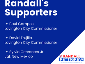 I'm so grateful for the support of leaders from all over Lea County!#VoteRandallPettigrewforNMHD61