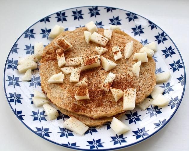 Havermout Pannenkoeken met kaneel en appel