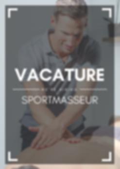 Vacature Sportmasseur
