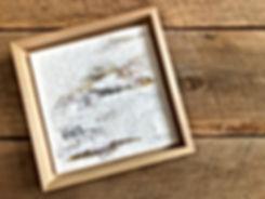 Encausting painting in maple frame
