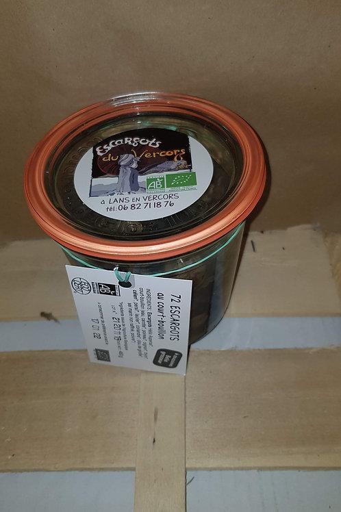 Escargots Bio court bouillon 6 douzaines en pot