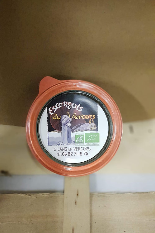 Escargots Bio Court bouillon 3 douzaines en pot