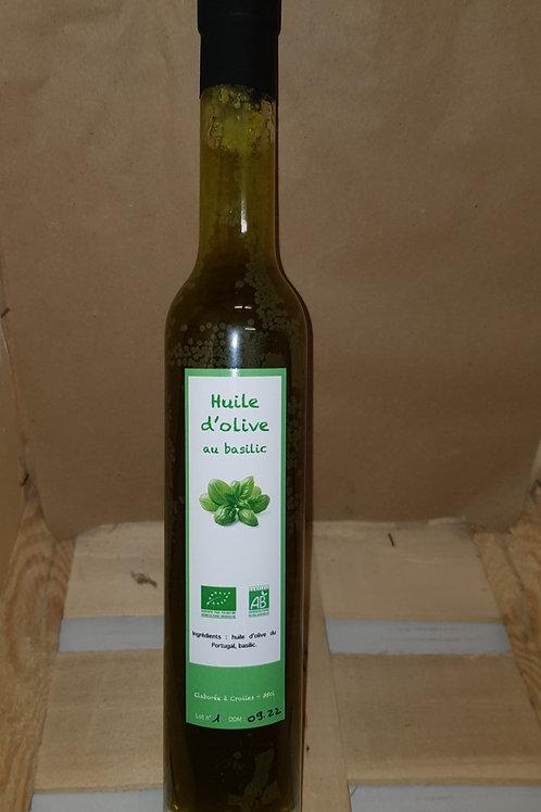 """Huile d'olive au Basilic 35cl """"La Ferme d'Antan"""""""