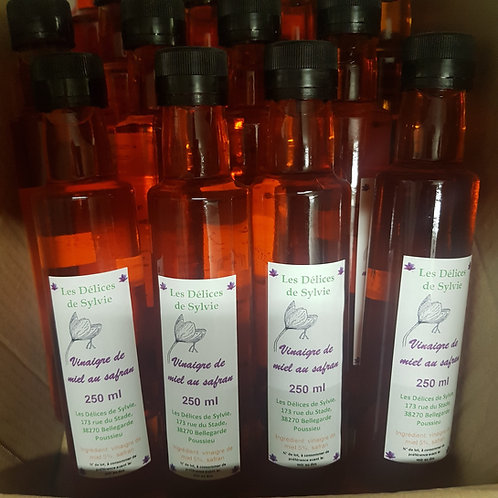 Vinaigre de miel au Safran en 250 ml