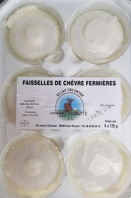 """Faisselle de chèvre x6  de """"La chèvrerie de la Gabote"""""""