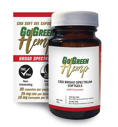 25mg Broad Spectrum CBD SoftGels With Curcumin