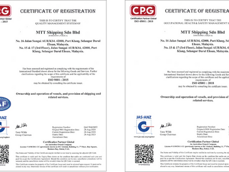 ISO 9001:2015 QMS and ISO 45001:2018 OHS Certified!