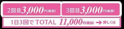 ホワイトニング料金2回目3,000円