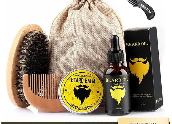 Men Beard Kit Grooming Beard Set - 6pc Set
