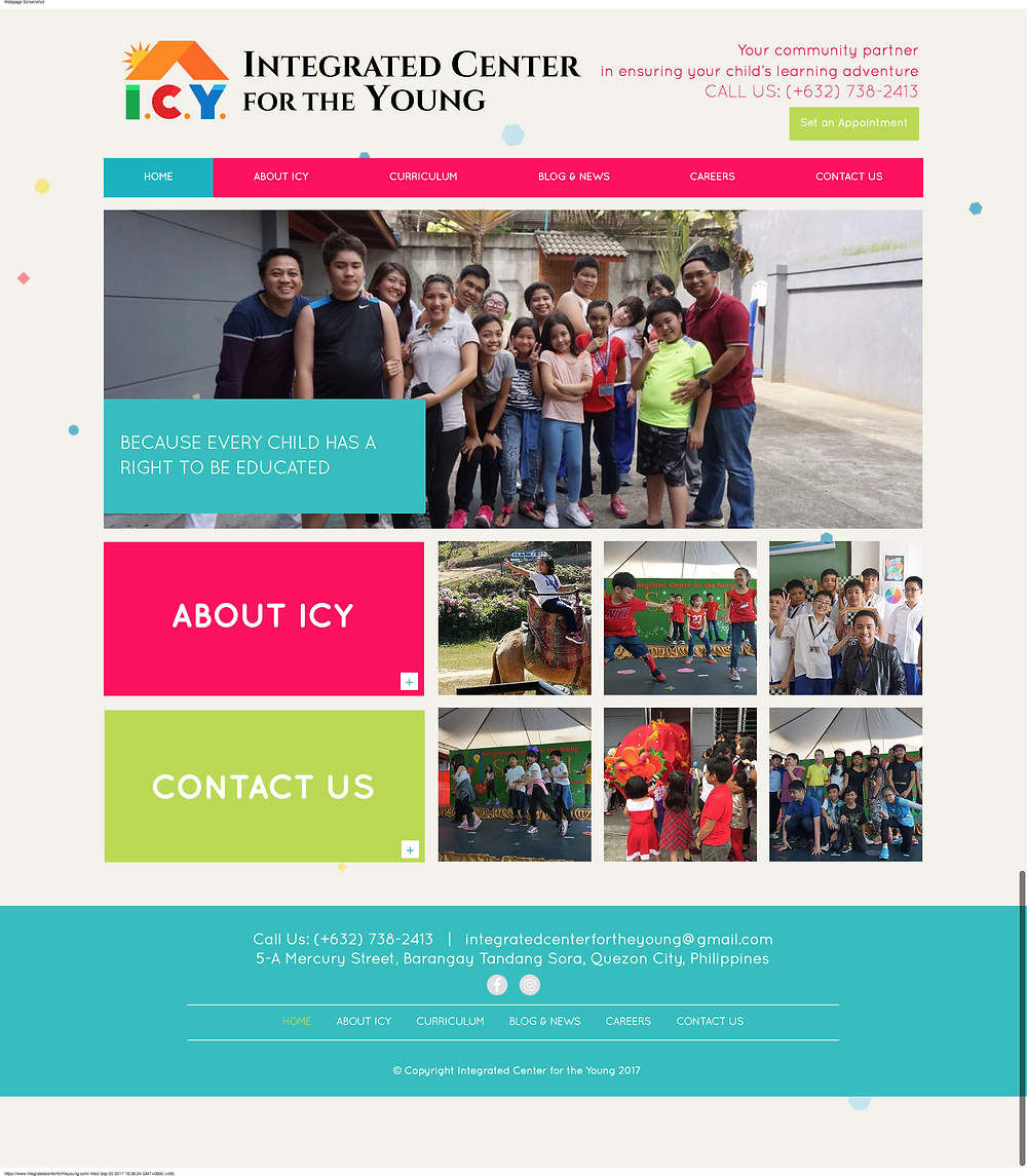 ICY's homepage