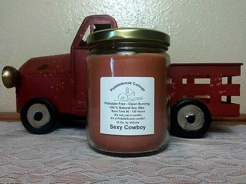 Sexy Cowboy 100% Natural Soy Wax Candle