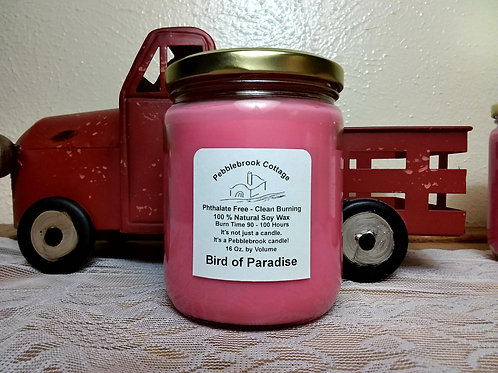 Bird of Paradise 100% Natural Soy Wax Candle