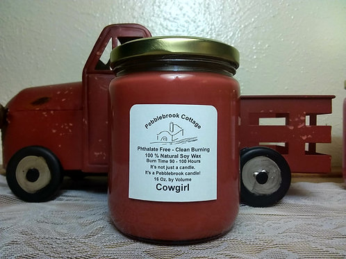 Cowgirl 100% Natural Soy Wax Candle
