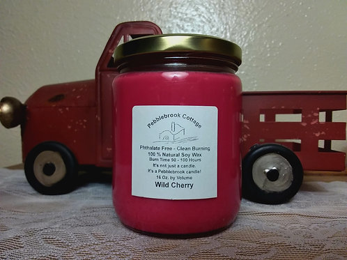 Wild Cherry 100% Natural Soy Wax Candle