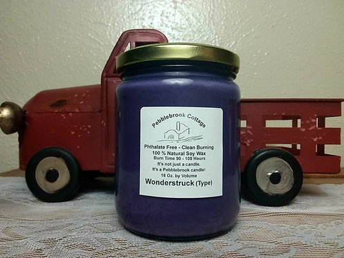 Wonderstruck (Type) 100% Natural Soy Wax Candle