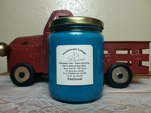 Patchouli 100% Natural Soy Wax Candle