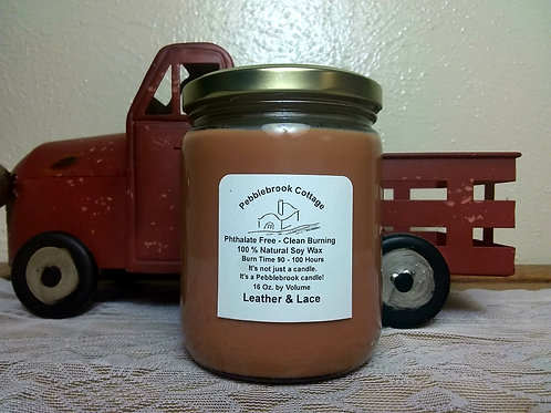 Leather & Lace 100% Natural Soy Wax Candle