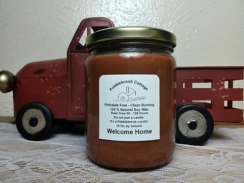 Welcome Home 100% Natural Soy Wax Candle