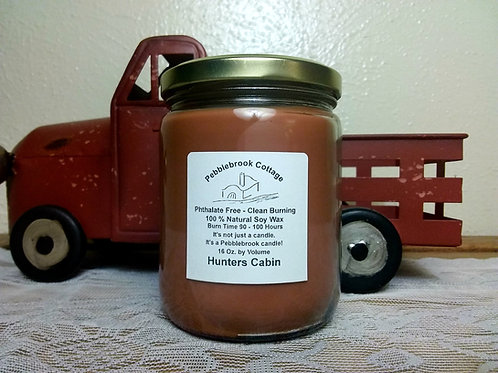 Hunters Cabin 100% Natural Soy Wax Candle