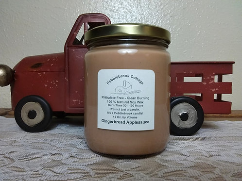 Gingerbread Applesauce 100% Natural Soy Wax Candle