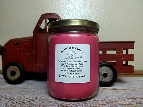 Strawberry Kisses 100% Natural Soy Wax Candle