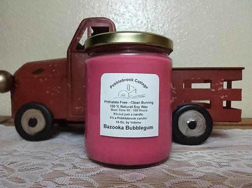 Bazooka Bubblegum 100% Natural Soy Wax Candle