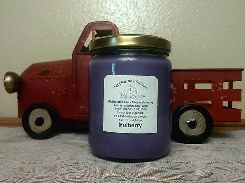 Mulberry 100% Natural Soy Wax Candle