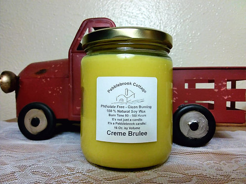 Creme Brulee 100% Natural Soy Wax Candle