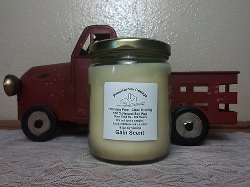 Gain 100% Natural Soy Wax Candle