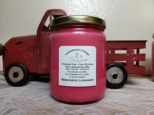 Watermelon Lemonade 100% Natural Soy Wax Candle